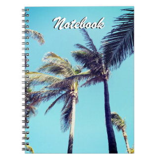 Palm Trees and Blue Sky Notebook