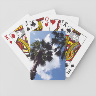 Palm Trees and Blue Sky Playing Cards