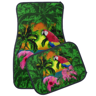 Palm Trees And Island Sunsets Floor Mat