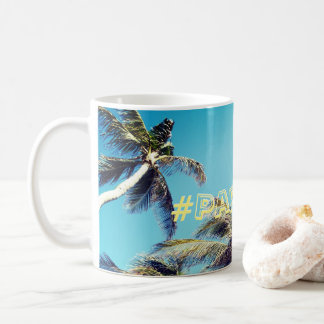Palm Trees and Paradise Hashtag Coffee Mug