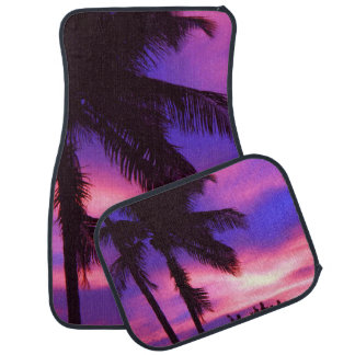 Palm Trees and Purple Sunset Car Mat