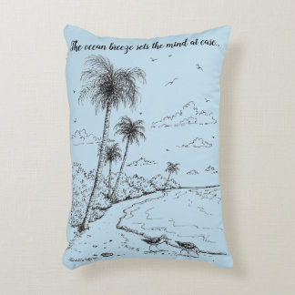 Palm Trees and Sandpiper Beach Life Decorative Pillow