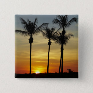 Palm trees and sunset, Mindil Beach, Darwin 2 Inch Square Button