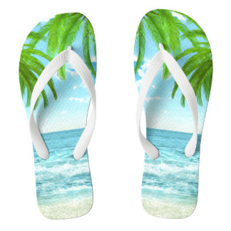 Palm Trees and Tropic Breeze Flip Flops
