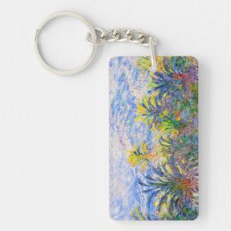 Palm Trees at Bordighera Claude Monet Double-Sided Rectangular Acrylic Keychain
