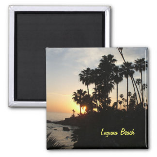 Palm trees at Laguna sunset magnet