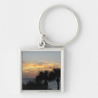 Palm Trees at Sunset Keychains