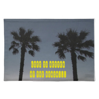 Palm trees at sunset placemat