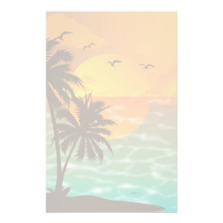 Palm Trees at Sunset Stationery