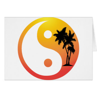 Palm Trees at Sunset Yin Yang Card