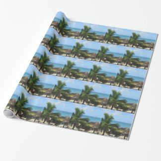 Palm Trees at the Beach Wrapping Paper