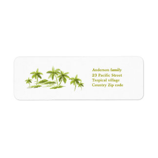 Palm trees Avery Label
