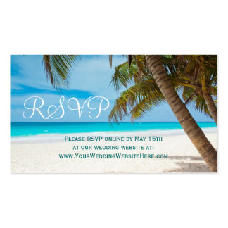 Palm Trees Beach Destination Wedding RSVP Cards Business Card