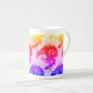 Palm trees bone china mug