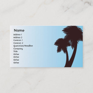 Tropical palm tree business cards business card printing zazzle ca palm trees business business card colourmoves