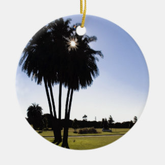 Palm trees ceramic ornament