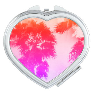 Palm trees compact mirror