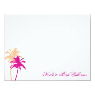 "Palm Trees Custom Flat Thank You Cards 4.25"" X 5.5"" Invitation Card"