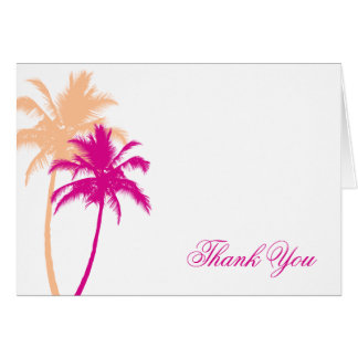 Palm Trees Custom Thank You Notes Greeting Card