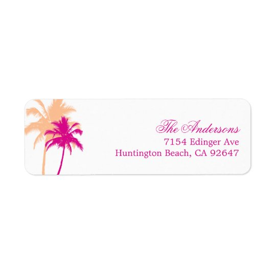 Palm Trees Destination Wedding