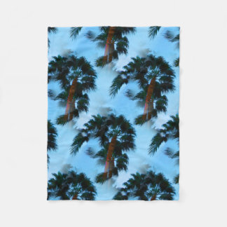 Palm trees duvet cover fleece blanket