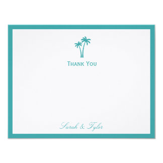 Palm Trees Flat Thank You Card