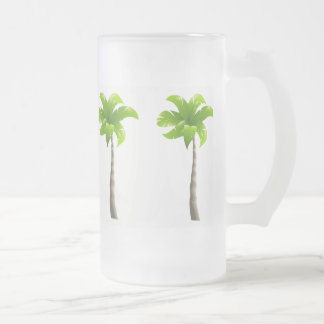 Palm Trees Frosted 16 oz Frosted Glass Mug
