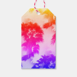 Palm trees gift tag