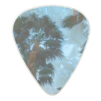 Palm trees guitar pick