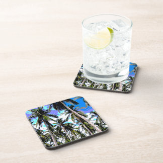 Palm Trees in a Posterised Design Coaster