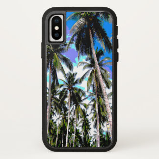 Palm Trees in a Posterised Design iPhone X Case