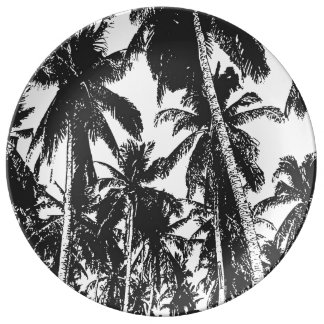 Palm Trees in a Posterised Design Plate