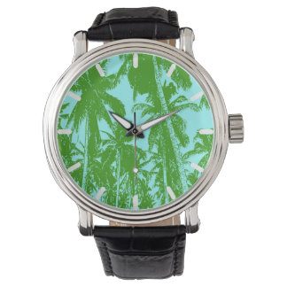 Palm Trees in a Posterised Design Watch