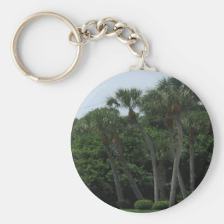 Palm Trees In The City Key Chain