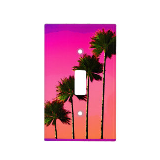 Palm Trees in the Sunset Light Switch Cover