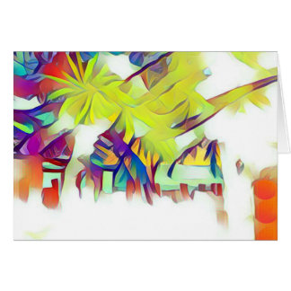 Palm Trees in the Village Greeting Card