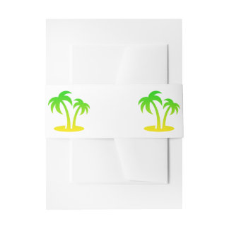 Palm Trees Invitation Belly Bands Invitation Belly Band