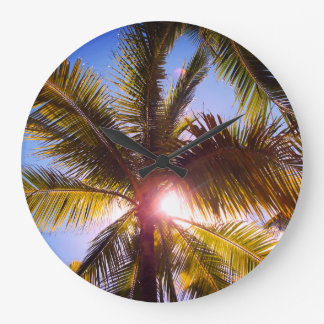 Palm trees large clock