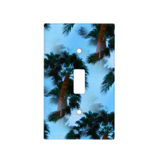Palm trees light switch cover