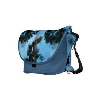 Palm trees messenger bags