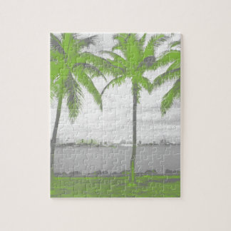 Palm Trees Miami, Florida Green Jigsaw Puzzle