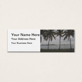 Palm Trees Miami, Florida Mini Business Card
