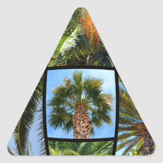 Palm trees mosaic triangle sticker