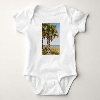 Palm Trees on Myrtle Beach East Coast Boardwalk Baby Bodysuit