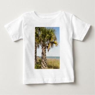 Palm Trees on Myrtle Beach East Coast Boardwalk Baby T-Shirt