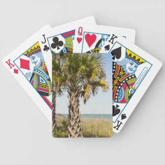 Palm Trees on Myrtle Beach East Coast Boardwalk Bicycle Playing Cards