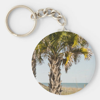 Palm Trees on Myrtle Beach East Coast Boardwalk Keychain