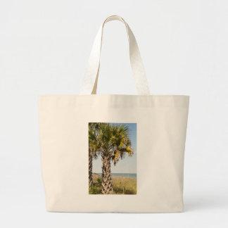 Palm Trees on Myrtle Beach East Coast Boardwalk Large Tote Bag