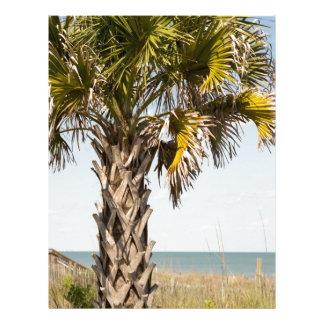 Palm Trees on Myrtle Beach East Coast Boardwalk Letterhead