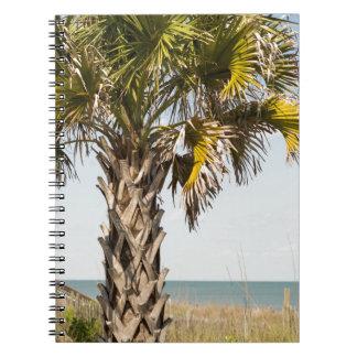 Palm Trees on Myrtle Beach East Coast Boardwalk Notebook